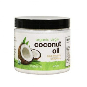 Naterre USDA Certified Organic Coconut Oil Virgin 470ml - Unrefined for Cooking, Baking, Skin, Hair, Beauty