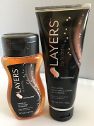 Scentsy Layers Awakening shower gel and body lotion set