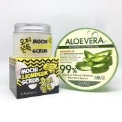 Chamzone Labonita Mochi Jjondeuk Scrub (50ml) + Dabo Aloevera Moisture Soothing Gel