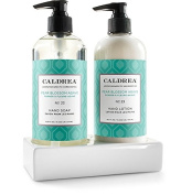 Cadlrea Hand Soap and Hand Lotion Sink Set in Ceramic Tray