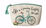 Ganz Women's Fashion Make Up Case Zip Pouch Bag - Bicycle