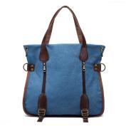 TOPCHANCES Canvas Retro Shoulder Messenger Multi-function Hit Colour Bag