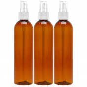 MoYo Natural Labs Fine Mist Spray Bottle 240ml Amber Pack of 3