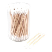 FOREVER YUNG Make up Removing Wooden Colour Tube Cotton Tip Swab Buds Rod 80 Pcs