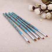 5pcs Acrylic Design Tool Manicure Nail Art Brushes Item Colour Blue printing