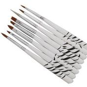 8pcs Painting Dotting Nail Art Brushes Acrylic UV Gel Drawing Pen Set