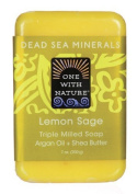 One With Nature Lemon Sage Dead Sea Mineral Soap, 210ml Bar by One With Nature