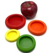 Fheaven 4 PCS/set Flexible Silicone Vegetable Fruit Food Huggers Storage Cover Storage
