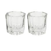 Mymei Nail Art Acrylic Liquid Powder Dish Glass Crystal Cup Glassware Tools