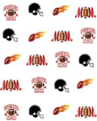 40 Sports Football Mom Nail Art Designs Decals