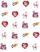 40 Sports Soccer Mom Design #4 Nail Art Designs Decals