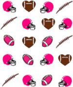 40 Sports Pink Football Nail Art Designs Decals