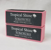 Tropical Shine Black 4-Way Nail Buffer Block 2 piece
