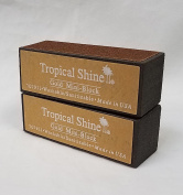 Tropical Shine Gold Mini 4-Way Nail Buffer Block 2 piece