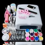 iMeshbean Professional Nail Dryer 36W UV Dryer Lamp 12 Colour UV Gel Nail Art Tools Complete DIY Sets Kits USA