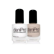 DaniPro Doctor Formulated French Manicure Kit (White,Nude) 15ml each
