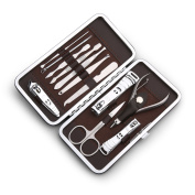 Nail Art Manicure Kit Finger Nail Care Tools, Chrome Steel 12 a combination,
