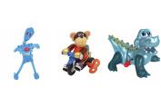 Z WindUps - Bike Rider Monkey Moe - Noggin Bop Max - Alligator Archie
