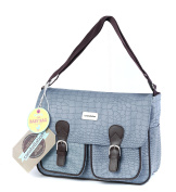 Constellation LG00389 Duck Egg Blue Mock Croc Baby Bag