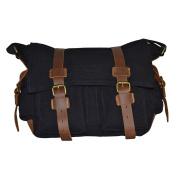 Eleoption Canvas Large Unisex Messenger Shoulder Bag School Military Shoulder Bag Messenger Bag