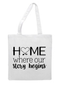 Home Where Our Story Begins Family Statement Tote Bag Shopper