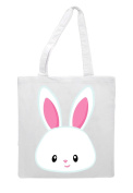 Bunny One - Simple Cute Face Easter Tote Bag Shopper