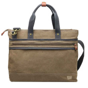 TRP0390 Troop London Classic Canvas Messenger Bag with Top Handles