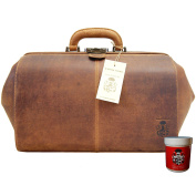 BARON of MALTZAHN Doctors bag BONHOEFFER brown leather