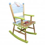 Fantasy Fields by Teamson Transportation Childrens Rocking Chair Kids Wooden Rocker Seat 9943A