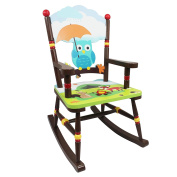 Fantasy Fields by Teamson Enchanted Woodland Childrens Rocking Chair Wooden Rocker Seat TD-11738A