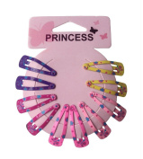 Smile YKK 5 Pairs Girls Kid Baby Hairpin Hair Fringe Bobby Pin Barrettes Colour B