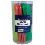 Burmax Aristocrat Neon Rake Combs, 36 Count