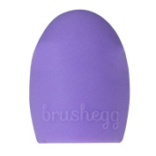 AENMIL Cosmetic Brush Cleaning Tools Silicone Egg Scrubber Wash Makeup Brushes Clean Artefact - Light Purple
