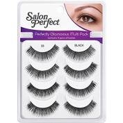 Salon Perfect Perfectly Glamorous Multi Pack Eyelashes, 33 Black, 4 pr