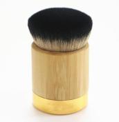 Yoyorule Bamboo Powder Foundation Brush Goat Hair Powder Makeup Brushes
