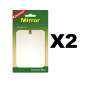 Coghlan's Stainless Steel Mirror Unbreakable Compact Survival Camping