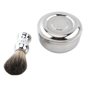 Shaving Brush + Soap Mug Bowl With Lid Men Luxury Shave Tool Kit,Suitable to All Lathering Soaps and Creams