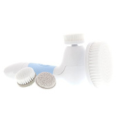 Spin for Perfect Skin - Skin Cleansing Face and Body Brush, Microdermabrasion Exfoliator System - Frosted Blue
