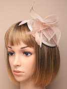 ASCOT, RACES Nude Comb Feather Hat Fascinator Ladies Day Royal Ascot Weddings