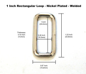 1 Inch Metal Loop - 0.16 Inch (4mm) Thick - Nickel Plated