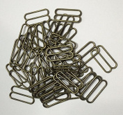 Metal Lingerie Hardware Sewing Clips Adjusters Bra Strap Sliders Buckle Pack of 100Pcs