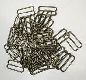 Metal Lingerie Hardware Sewing Clips Adjusters Bra Strap Sliders Buckle Pack of 100Pcs