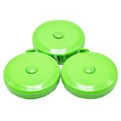 BUSHIBU Green 3 pcs150 cm 60 Inch Push Button Soft Retractable Tape Measure Handy Pocket Tape Measure Double-Sided Tailor's Measuring Tape