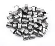 Honbay 50pcs Silver Sewing Quilting Metal Thimbles DIY Craft Finger Protector