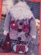 Mr Merry Merry 50cm tall - Santa soft sculpture pattern #53