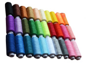 Sewing Quilting Threads Set - 30 Spools Mixed Colours 250 Yards Polyester Quilting Threads