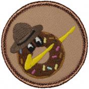 Dabbing Donut Patrol Patch - 5.1cm Round!