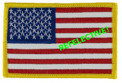 REFLECTIVE US Flag Patch (Sew-On) Forward Full Colour 5.7cm x 8.6cm