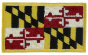 Maryland State Flag Patch (Sew-On) 3.8cm x 6.4cm Embroidered Patch