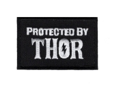 Protected by THOR Viking Odin Embroidered 7.6cm Hook Patch by Miltacusa